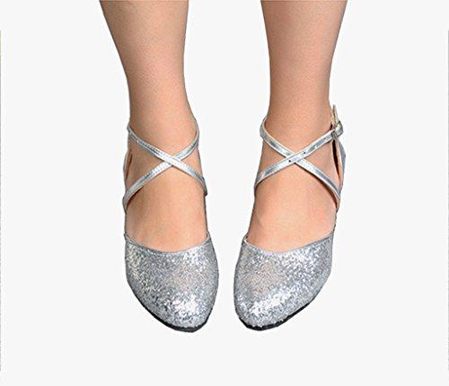 Meijili, Scarpe da ballo donna Silver