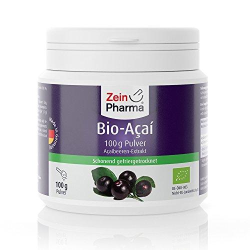 Antioxidative Orac-wert (ZeinPharma Bio Acai Pulver (Monatspackung) Glutenfrei, vegan, koscher & halal Hergestellt in Deutschland, 100 g)