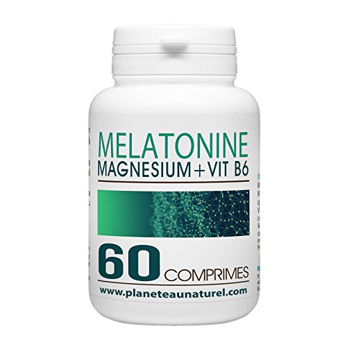 Mélatonine 1mg + Magnesium + Vitamine B6-60 Comprimés