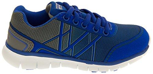 Gola Unisex - Kinder Beiläufige Sport-Schuhe Übung Turnschuhe Reflex Blau