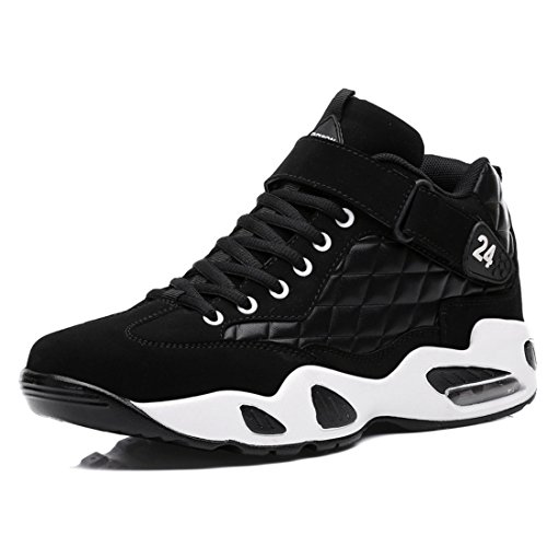 Men's Mesh Air High Top Non Slip Basketball Shoes Black