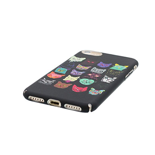 iPhone 7 Custodia, Case iPhone 7 Copertura 4.7 pollici / Disegno unico del materiale di TPU Cartoon Cute Fantasy Protettivo Cover / Graffi Resistenza agli urti - Gatto cane Cat Dog Gatto cane Cat Dog