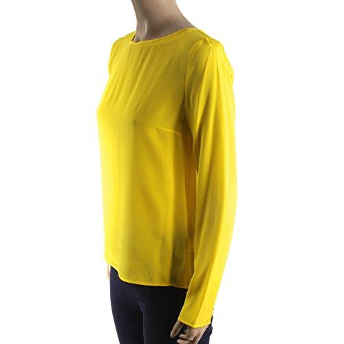 Patrizia Pepe Camicia Mod. Camicia in Seta Art. BC0654/A156-Y300 Yellow Muchos Tipos De Línea Barata Autorización Original l2Y3quzZy