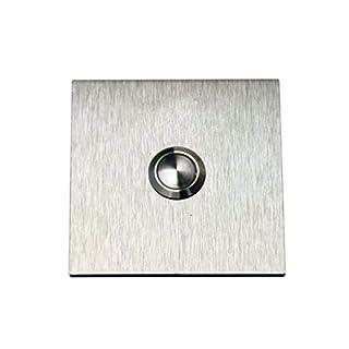 Designer Klingel Türklingel Klingelplatte 3mm Edelstahl V2A 80mm x 80mm qmd