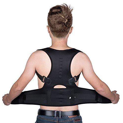 Foto de Yokamira Corrector de Postura, Corrector de Postura de Espalda y Hombro Ajustable y Acolchonado Para Hombres y Mujeres, Apoyo Espalda Cuello Dolor de Hombro Alivio – Corrige la Mala Postura – M