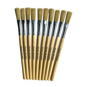 10-x-papier-paper-mache-paste-brushes-art-craft-hog-hair-short-handle-brushes