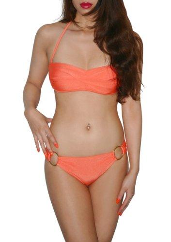 SODACODA-SODACODA- Maillot de bain, bikini 2 pices- rembourré- push up-haute qualitŽ! (Orange,M)