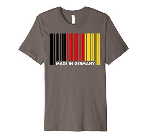 Made in Germany Oktoberfest Barcode T Shirt Deutsche Flagge Tees