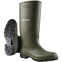 Dunlop Protective - Pricemastor, Botas de goma trabajo Unisex adulto, Verde (Green 001), 41 EU