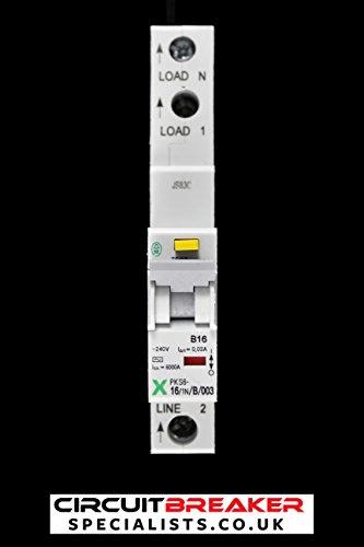 Moeller 16Amp Typ B 6KA einzelnes 30mA RCD MCB Xpole PKS616/1N/B/003