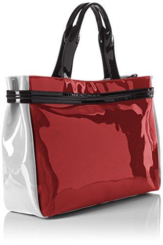 Armani Jeans 922548cc852, shoppers Rouge - Rot (BURGUNDY-GRIGIO-NERO 07376)