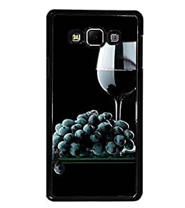 PrintDhaba Black Grapes D-4308 Back Case Cover for SAMSUNG GALAXY E7 (Multi-Coloured)