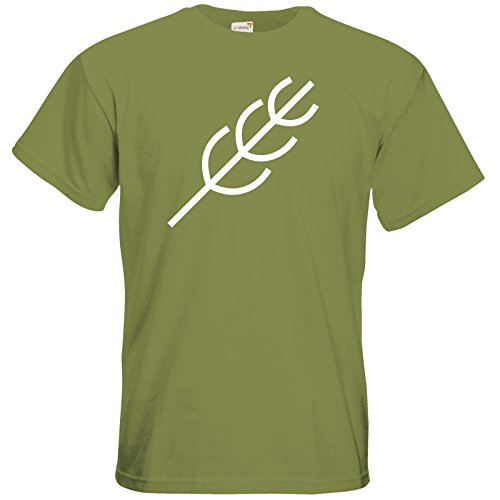 getshirts - Das Schwarze Auge - T-Shirt - Götter - Symbole - Peraine Green Moss