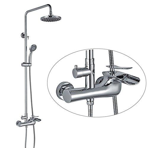 Thermostat Duschsystem Dusche Set Kupfer Wasserfall Dusche Wasserhahn Bad Heiß und Kalt Dusche Combo Head Combo Dusche System - Aufhellung System