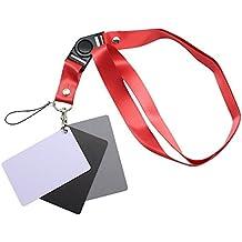 PROtastic 3in1Digital 18% Gris/Blanco/Negro Tarjeta Fotografía Set Exposición Equilibrio Correa de + cordón