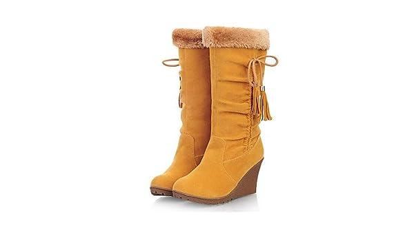 Best 4U® Damen Schuhe Nubukleder Herbst Winter Modische