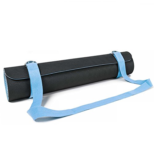 #DoYourYoga SANGLE DE TRANSPORT POUR TAPIS »Yuki« / Carrying belt for all Yoga-, Pilates and EXTRA THICK Fitness mats, useful and easy to handle, lightblue