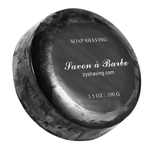 Luxus Rasierseife Natürliche Zutaten Shave Seifen Reiche Schaum Seifen Für Glatte Bequeme Rasur Perfekten Geschenk Für Mann Friseursalon Fragrance 1PC (Schwarz)