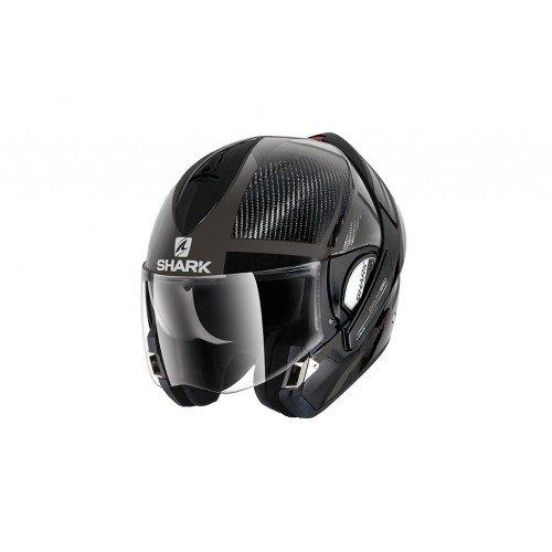 EVOline de tiburón Pro carbono DT motocicleta cascos, negro, tamaño M