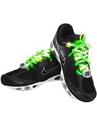 7th Generation Nylon LED Shoelaces Light Up Shoe Laces with 10 LED lamp beads, Brighter& Softer Than Common LED Shoelace