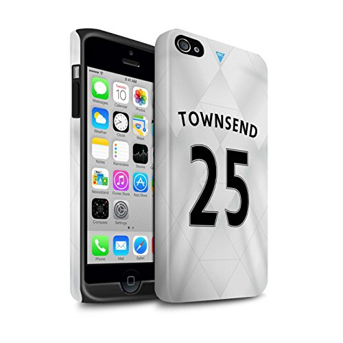 Offiziell Newcastle United FC Hülle / Matte Harten Stoßfest Case für Apple iPhone 4/4S / Pack 29pcs Muster / NUFC Trikot Away 15/16 Kollektion Townsend