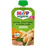 Hipp Panais Organique, De Squash Douce & Chicken Dinner 4 + Mois 100G - Lot De 2