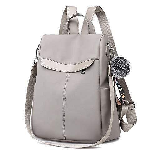 PAGWIN Cute Style Female Student Oxford Waterproof Anti Thief School Bags Backpack Girls Daily Backpack Sling Bag (PG-0117, Grey) Price in India