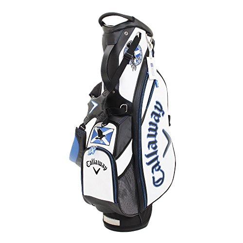 Callaway The Open 2018Sac de Golf Trépied Édition Limitée–Blanc/Noir/Bleu