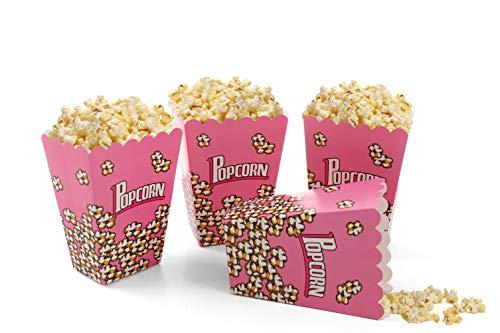 (Komonee Faltbare Packung Kinder Popcorn-Boxen Rosa (24er Pack))