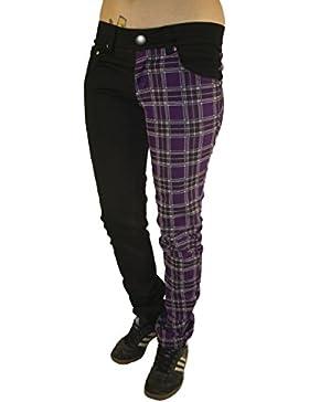 Rock Rag - Pantalones Tartan, Color: Negro/Morado