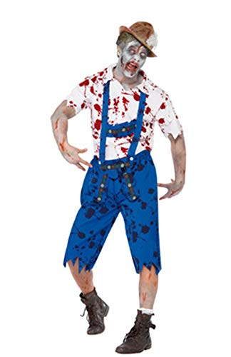 Aida Bz Halloween Blut Cosplay Menswear Uniformen Party Oktoberfest Halloween Kostüme Bauern Zombie Kostüme,Natural,XL