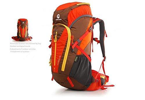 Outdoor-Bergsteigen Tasche Rucksack Umhängetaschen für Männer und Frauen auf Fuß Outdoor-camping-Ausrüstung 48L Green