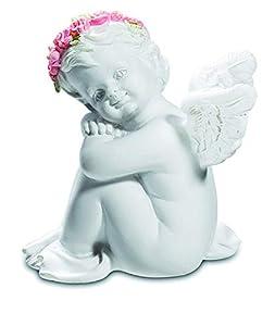 KATERINA PRESTIGE BROHF1597 - Juego de 2 ángeles con Flores sentadas, Multicolor