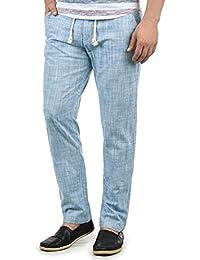 Blend Bonavo Herren Leinenhose Sommerhose Lange Stoffhose in Leinen-Optik aus 100% Baumwolle Regular Fit