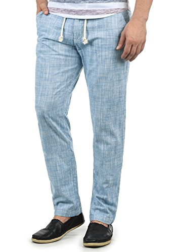 Blend Bonavo Herren Leinenhose Sommerhose Lange Stoffhose In Leinen-Optik Aus 100% Baumwolle Regular Fit, Größe:XL, Farbe:Ensign Blue (70260) -