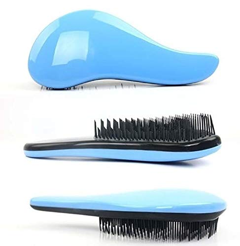 Oyria Handle Tangle Original Detangling Comb Scalp Massage Shower Hair Brush Salon Styling Tamer Women, Men, Girls & Boys - Detangle Knots Easily - Blue