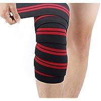 ZSZBACE Kniebandage [ein Paar mit Klettverschluss] Knee Wraps180cm - Profi Knie Bandagen für Kraftsport, Bodybuilding... preisvergleich bei billige-tabletten.eu