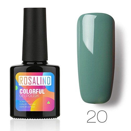 Vernis à ongle,Nail Art, Gel à Ongles,Gel de Vernis,PowerFul-LOT ROSALIND 10ML Chameleo Vernis À Ongles Nail Art Nail Gel Vernis UV LED Gel Polonais(20)
