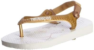 Havaianas Baby Pooh Toddler Kids White Rubber Flip Flops, UK 8