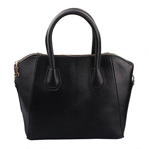 Ukamshop 1PC Frauen Trendy Charming PU-Leder Handtaschen Schulter Matt Taschen Tragehandtasche Tasche (schwarz) (Sandwich-karte-spiel)