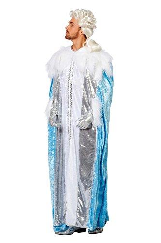 Übergröße Kostüm Frozen - Kostüm Eiskönig Kleid Gewand Umhang auch Plus Size XXXXL (48)