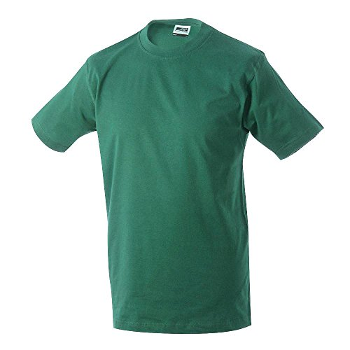 James & Nicholson - Men's Workwear T-Shirt Dark Green