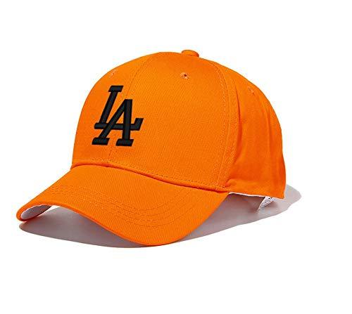 JIACHIHH Baseballmütze Baumwolle,Orange Baseball Cap Schwarz Bestickt Buchstaben Sommer Unisex Casual Hut - Orange Camouflage Cap