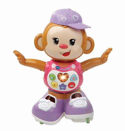 Vtech 80-505954 Lustiges Tanzaeffchen pink Babyspielzeug, bunt