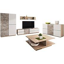 mirjan24 wohnzimmer set inline i 5 tlg komplett kommode tv lowboard