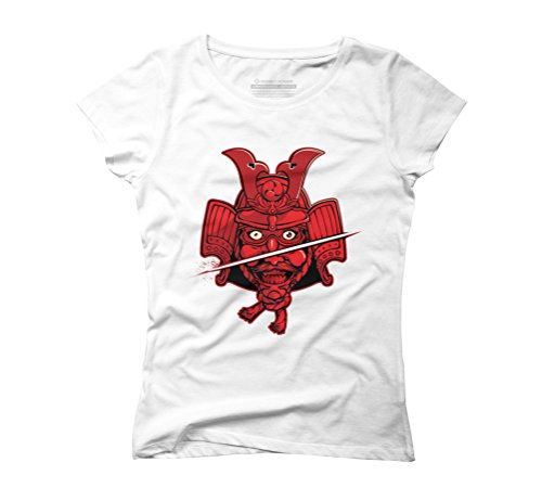 Dead Samurai Women's Graphic T-Shirt - Design By Humans White