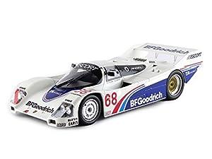 Norev-187401-Porsche 962C-600KMS de Riverside 1985-Escala 1/18-Azul/Blanco