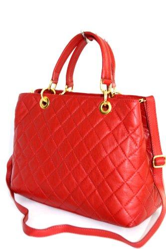 fashion-formel Classic, Borsa tote donna Rosso (rosso)