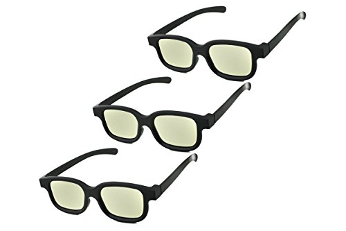 FeldSpar Circular Polarized 3D Glasses for 3D TV and Cinema – Theatres (Pack of 3)