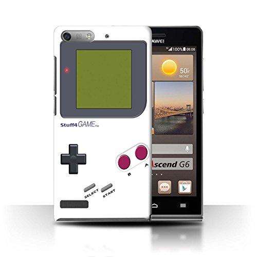 Stuff4® Hülle/Case für Huawei Ascend P6 Mini/Weiß Muster/Videogamer/Gameboy Kollektion